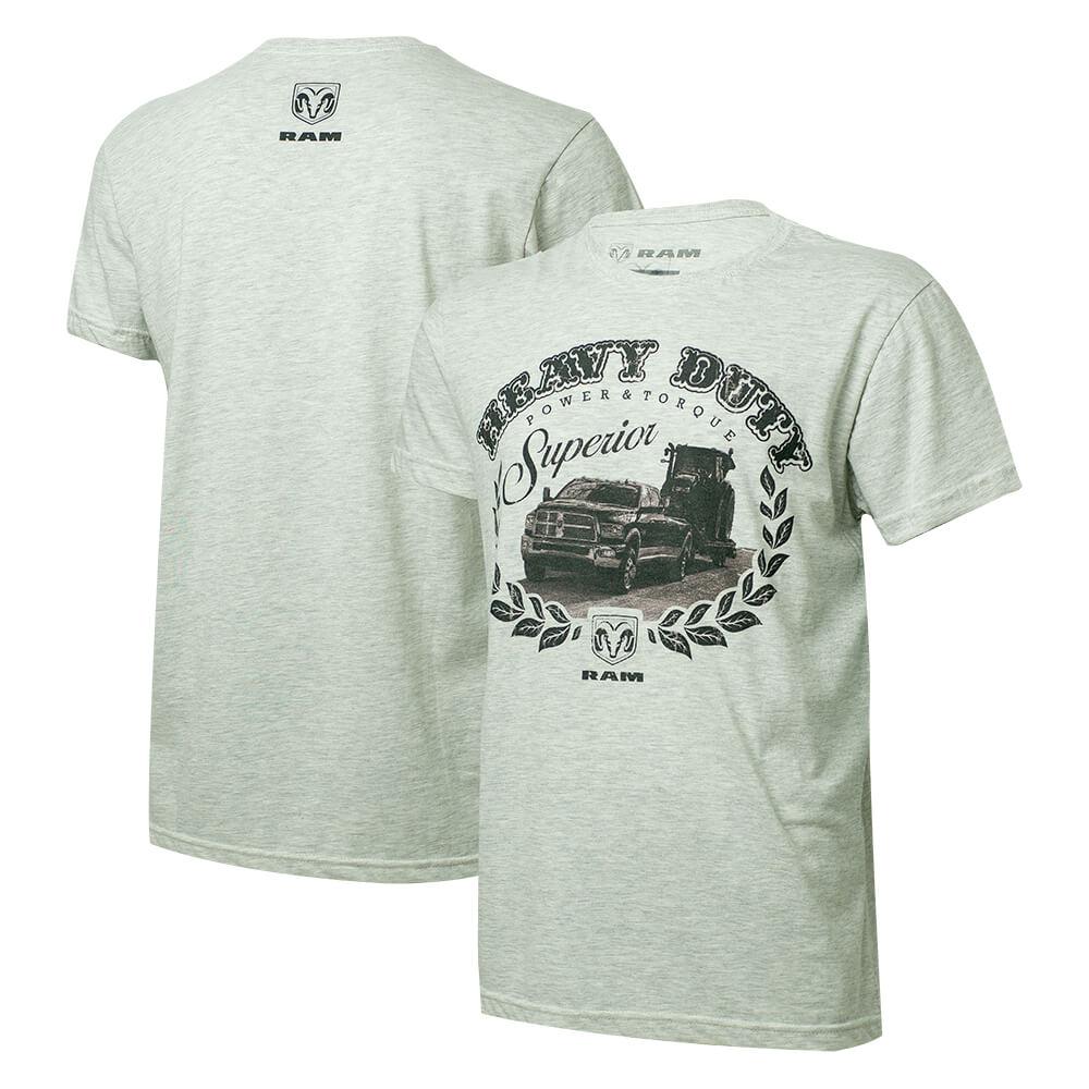 Camiseta Masc. RAM DTG Heavy Duty Cinza Mescla Claro