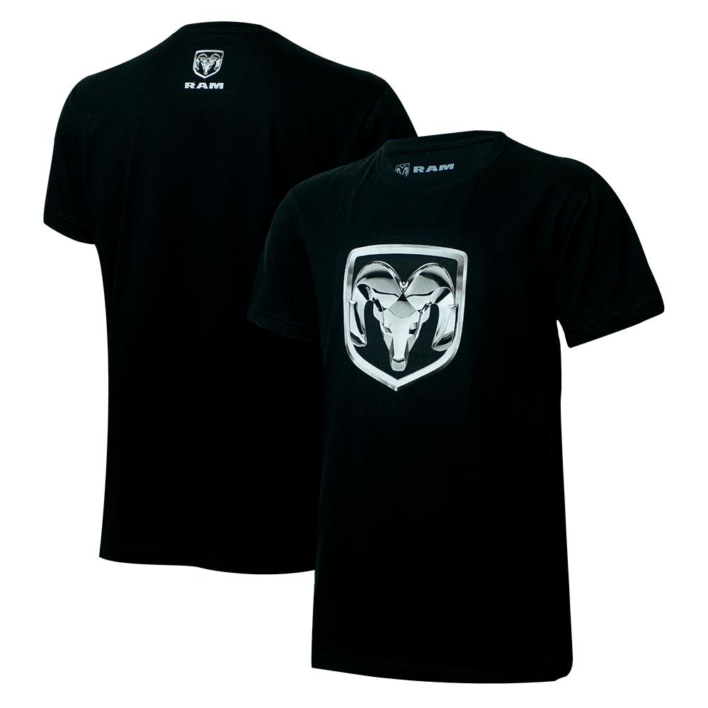 Camiseta Masc. RAM DTG Shield - Preta