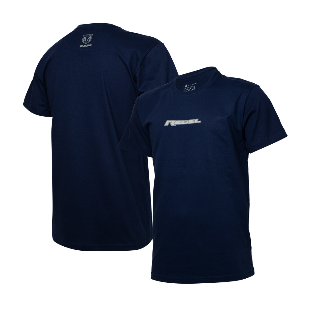 Camiseta Masc. RAM Rebel Logo - Azul Marinho