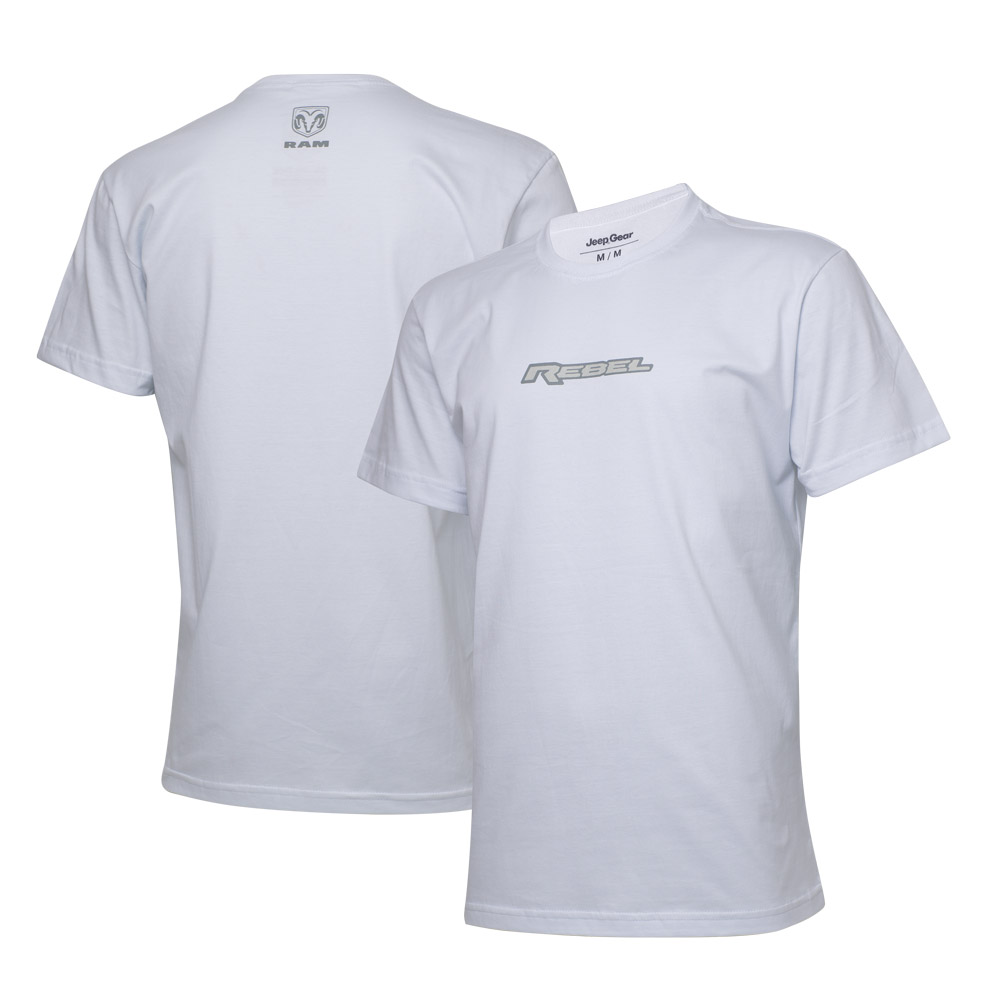 Camiseta Masc. RAM Rebel Logo - Branca