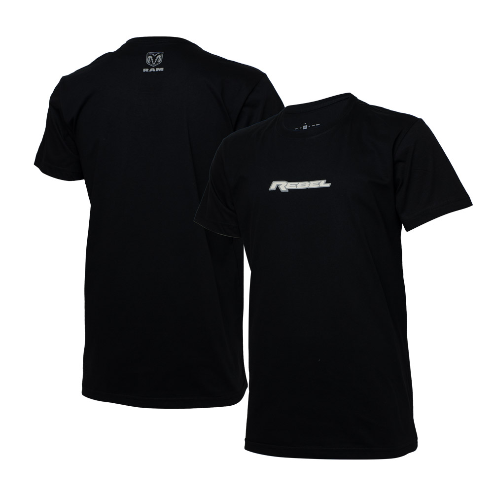 Camiseta Masc. RAM Rebel Logo - Preta