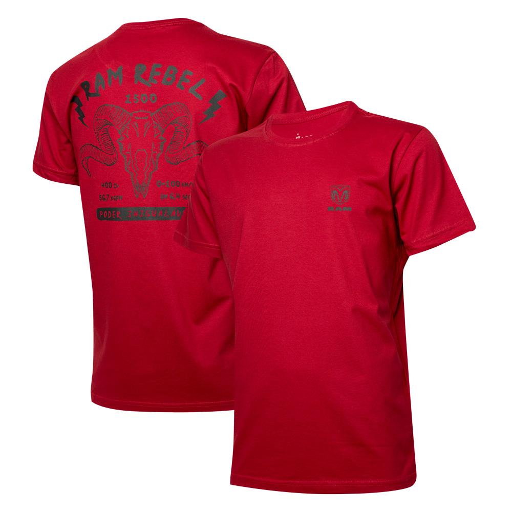 Camiseta Masc. RAM Rebel Skull - Vermelha