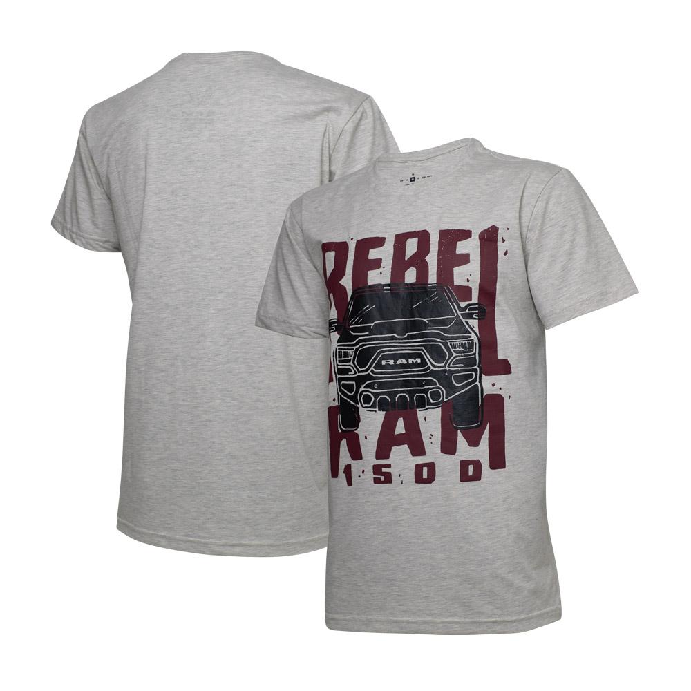 Camiseta Masc. RAM Rebel Trembling - Cinza Mescla Claro
