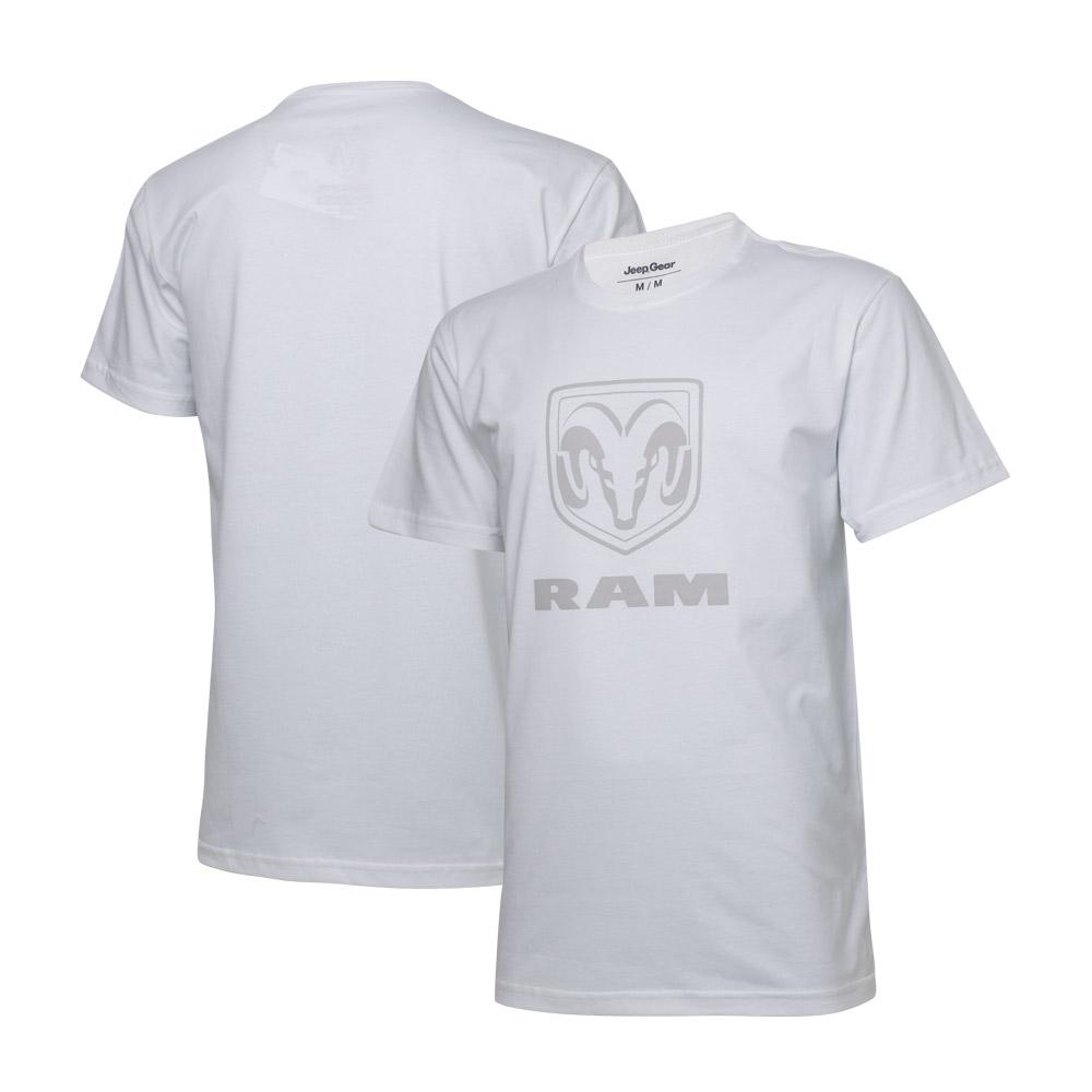 Camiseta Masc. RAM Standard Logo - Branca