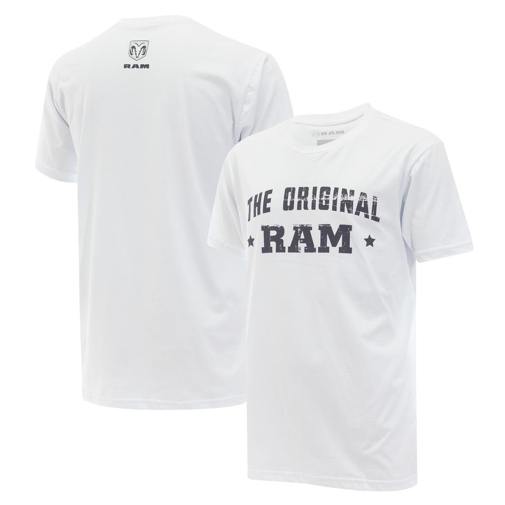 Camiseta Masc. RAM DTG The Original - Branca