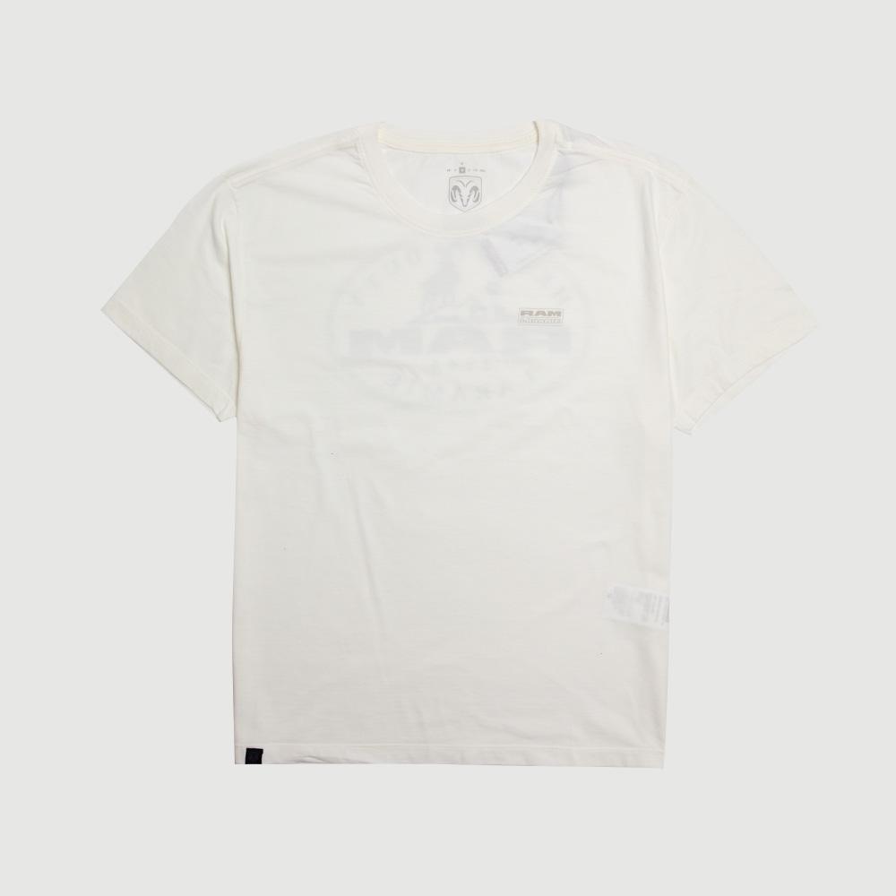 Camiseta RAM Laramie Badge - Off White