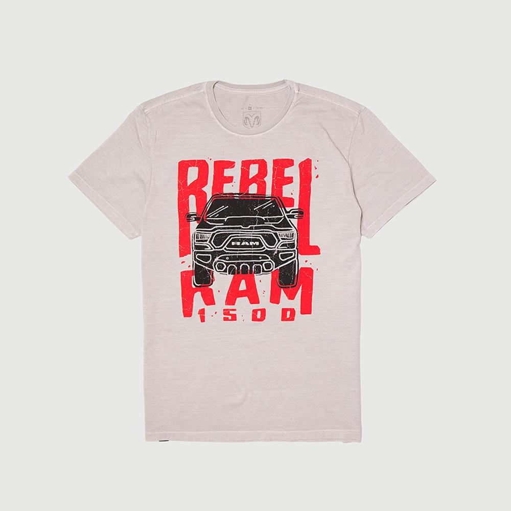 Camiseta Masc. RAM Rebel - Trembling - Cinza
