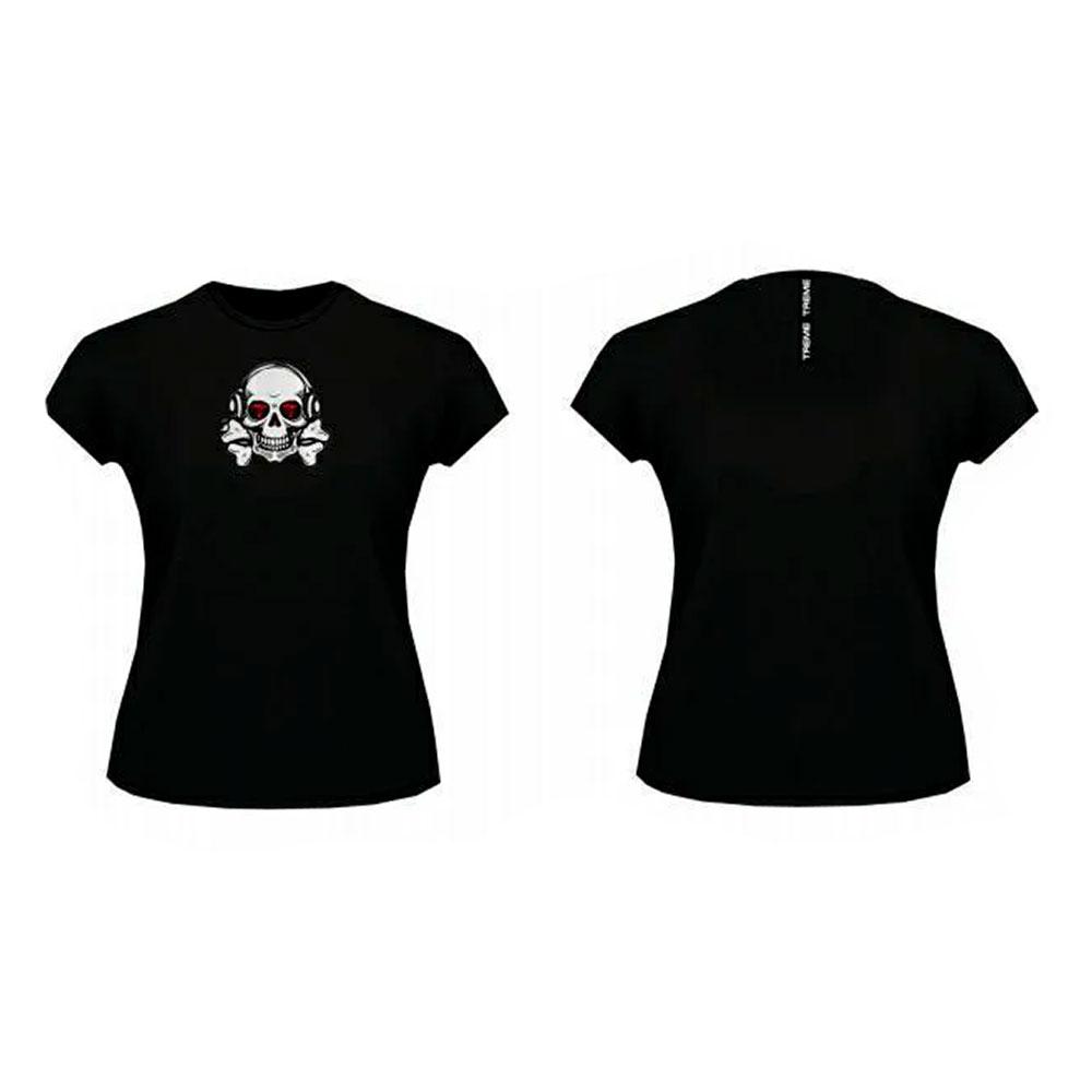 Camiseta Caveira Preta Treme Treme
