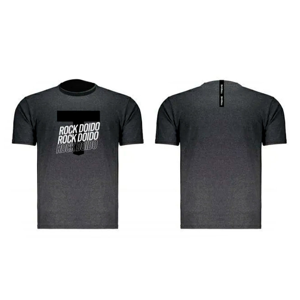Camiseta Rock Doido Cinza Treme Treme