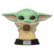 Grogu Baby Yoda Mandalorian c/ Copo - Funko POP Star Wars
