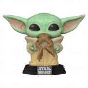 Grogu Baby Yoda Mandalorian c/ Sapo - Funko POP Star Wars