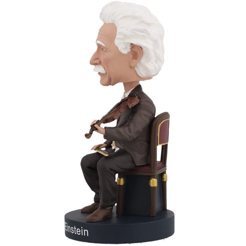 Albert Einstein Violino Bobblehead - Royal Bobbles  - SAMERSAN Colecionaveis