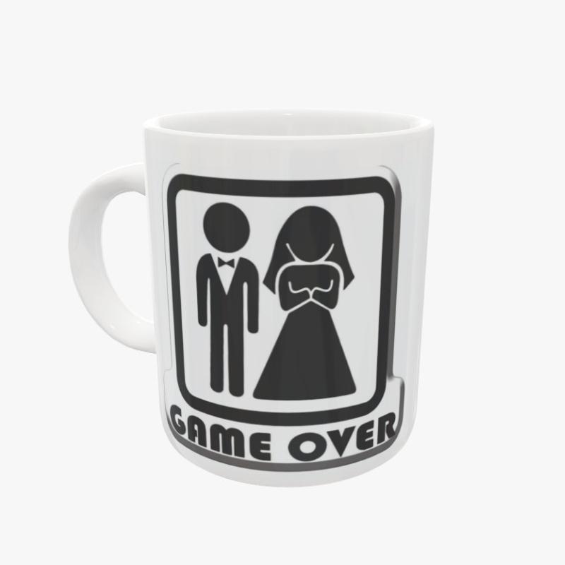 Caneca Porcelana - Casamento Game Over  - SAMERSAN Colecionaveis