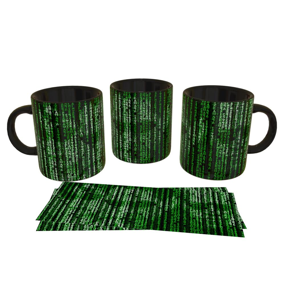 Caneca Porcelana - Dados Matrix   - SAMERSAN Colecionaveis
