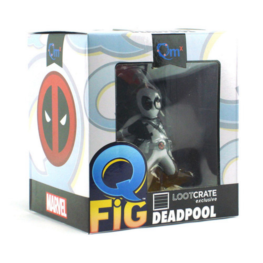 Deadpool Cinza Marvel - Q-fig - Quantum Mechanix EX QMX  - SAMERSAN Colecionaveis