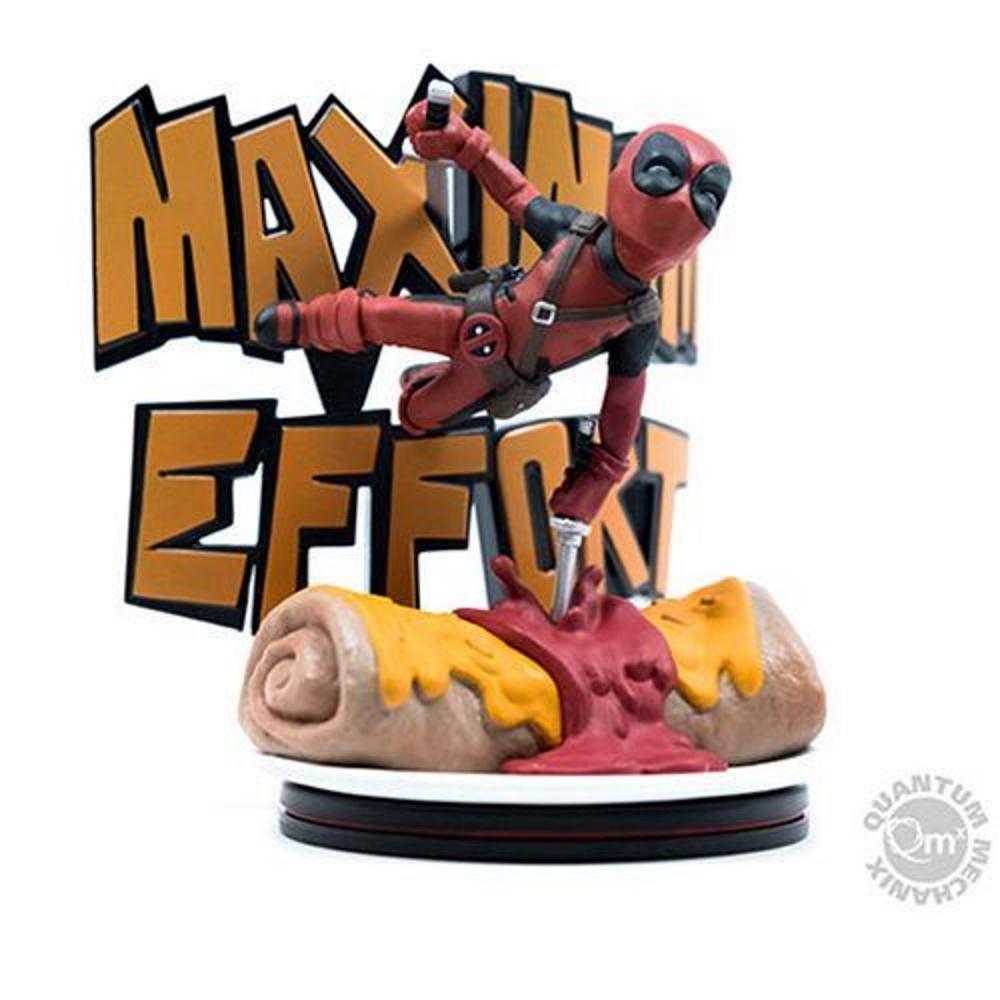Deadpool Maximum Effort Q-fig Max Diorama - Quantum Mechanix QMX  - SAMERSAN Colecionaveis