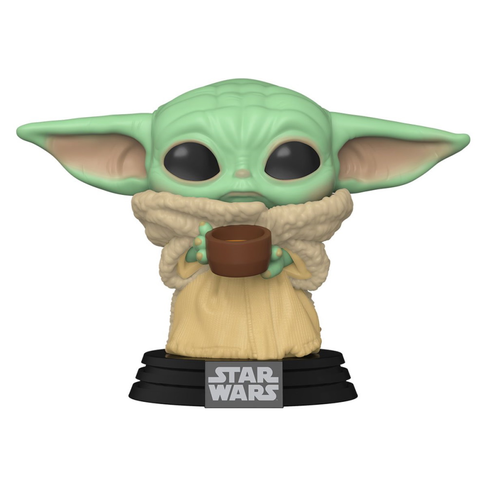Grogu Baby Yoda Mandalorian c/ Copo - Funko POP Star Wars  - SAMERSAN Colecionaveis