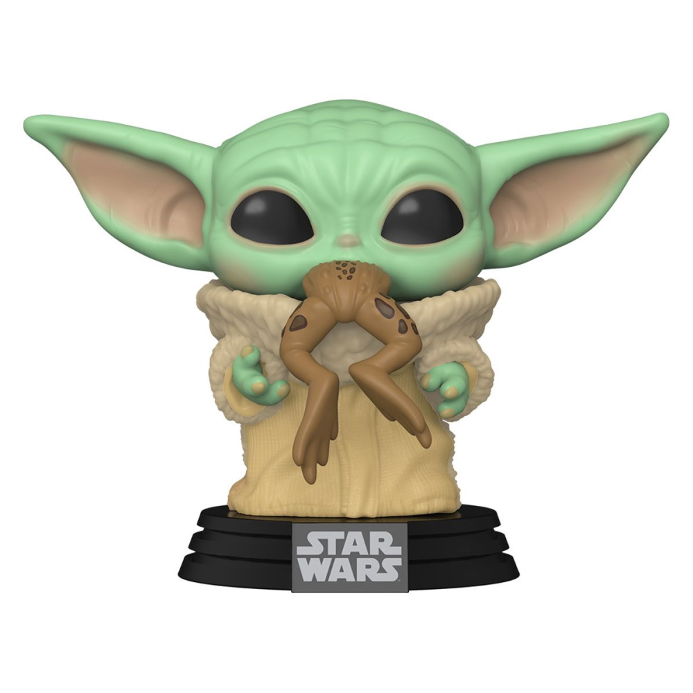 Grogu Baby Yoda Mandalorian c/ Sapo - Funko POP Star Wars  - SAMERSAN Colecionaveis