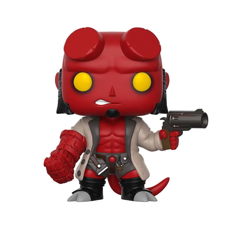Hellboy Com Jaqueta - Hellboy Comics - Funko Pop Comics  - SAMERSAN Colecionaveis