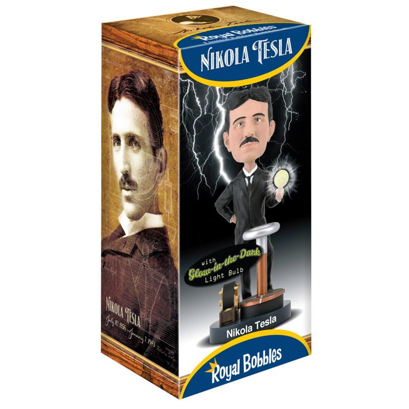 Nikola Tesla Bobblehead - Royal Bobbles  - SAMERSAN Colecionaveis