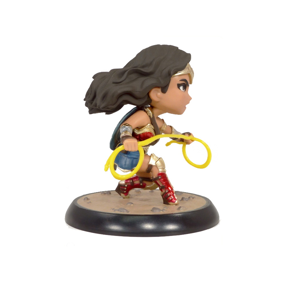 Wonder Woman Liga Da Justiça Dc Comic Qfig Quantum Mechanix QMX  - SAMERSAN Colecionaveis