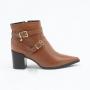 Ankle Boot Verofatto Ariane Fivela Couro - Marrom