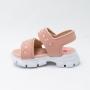 Sandália Papete Molekinha Com Velcro Rosa