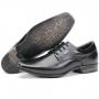 Sapato Social Em Couro Macio Com Cadarço Keffor - Preto