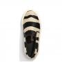 Tênis Santa Lolla Slip On Pelo Zebra Preto e Branco