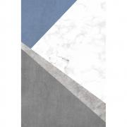Quadro Abstrato Azul e Cinza Clean