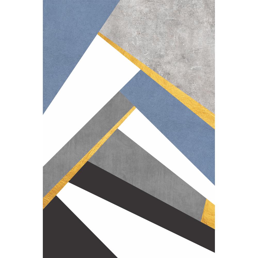 Quadro Abstrato Azul Clean