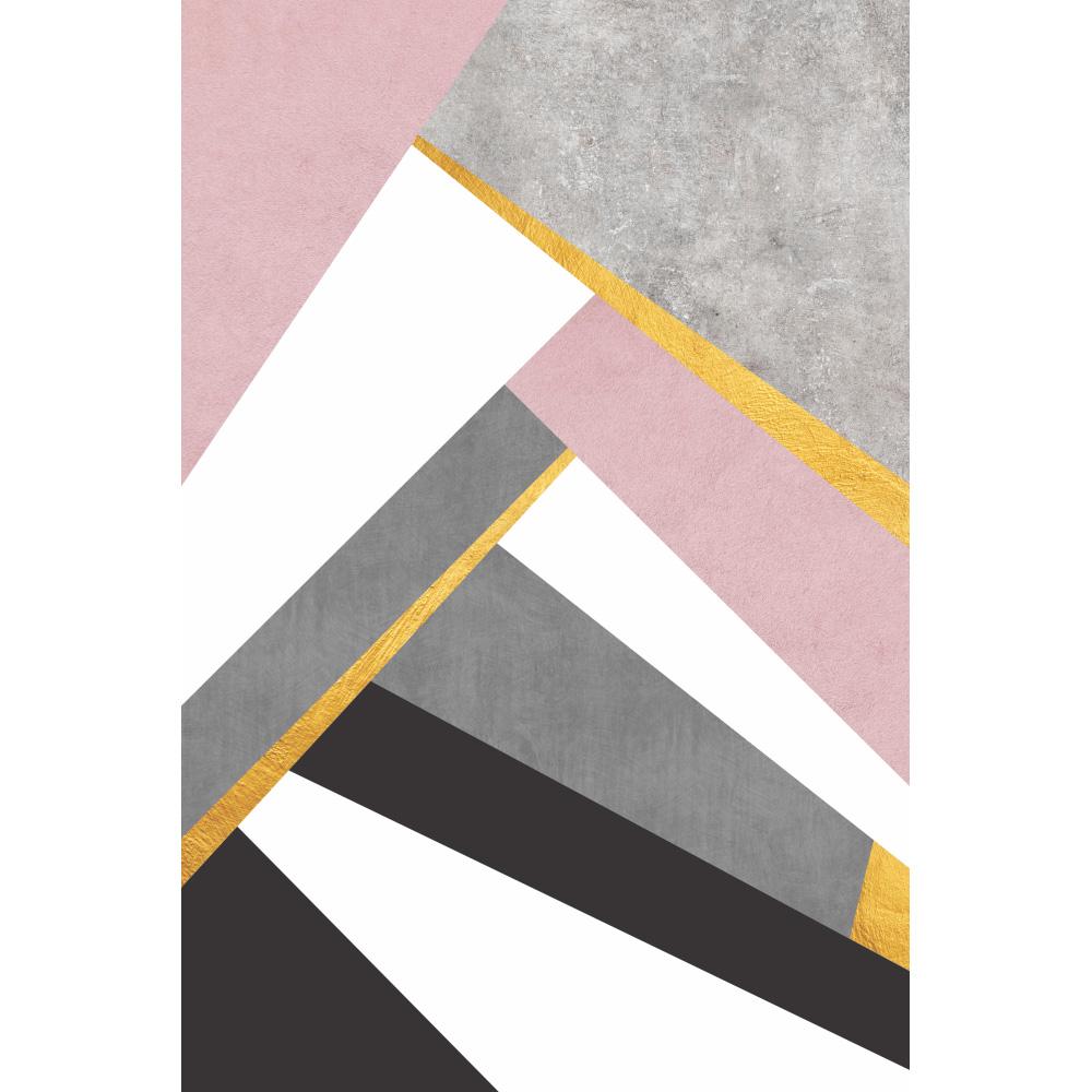 Quadro Abstrato Rosa Clean