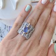 Maxi anel de zircônias luxo