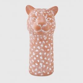 Cachepot Leopardo em Terracota