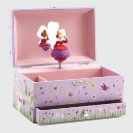 Caixa de Música Princesa com Pássaro