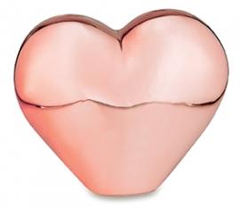 Coração Gold Rose M
