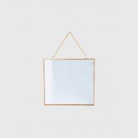 Espelho wall dourado square