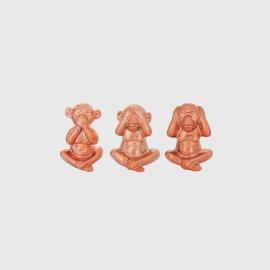 Kit Macaco Rose Gold Em Cerâmica