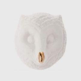 Máscara De Coruja Branco