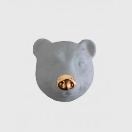 Máscara De Urso Cinza