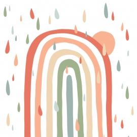 Painel de parede arcoiris com chuva colors