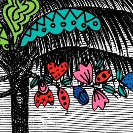 Painel floresta colorido | Ana Strumpf