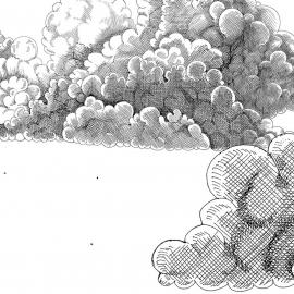 Painel nuvens | Regina Strumpf