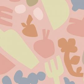 Papel de parede cozinha divertida | Paola Saliba