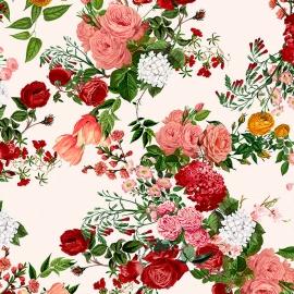Papel de parede floral grande | Regina Strumpf
