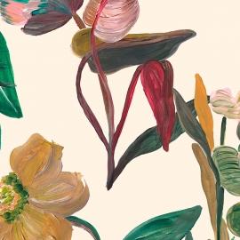 Papel de parede flores imaginárias   Pat Lobo