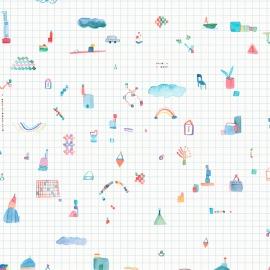 Papel de parede grid azul | Sandra Jávera