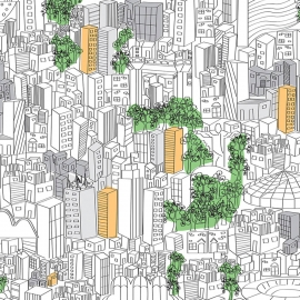 Papel de parede metrópole | Marcelo Rosenbaum