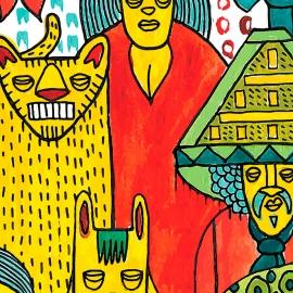 Papel de parede nação multicolorido   Marcelo Rosenbaum