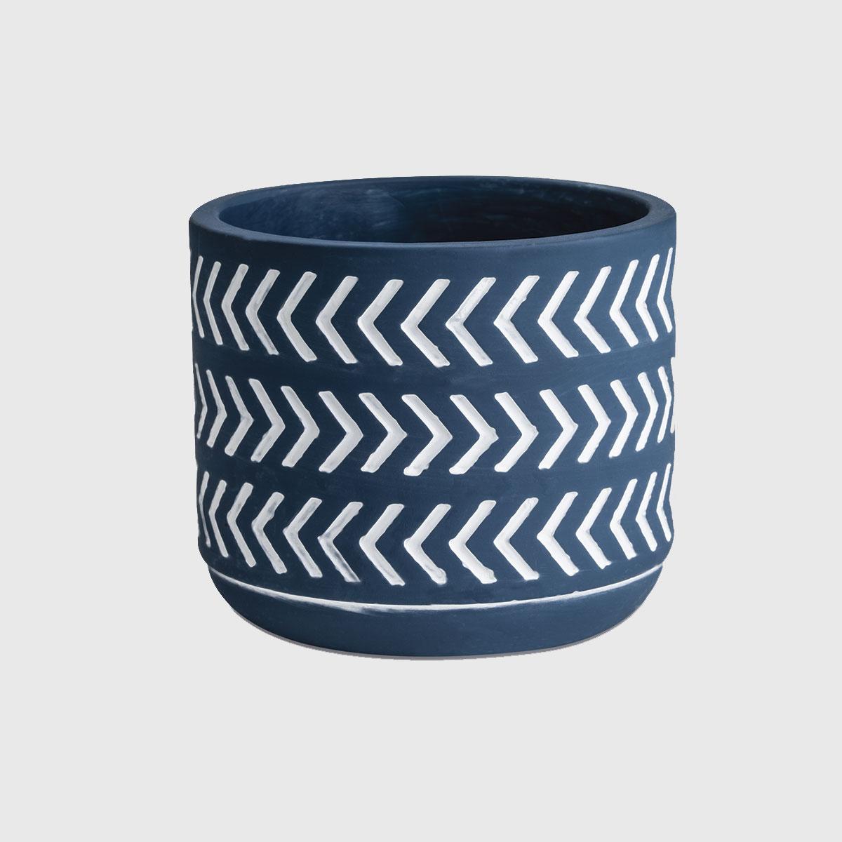 Cachepot Cerâmica Setas